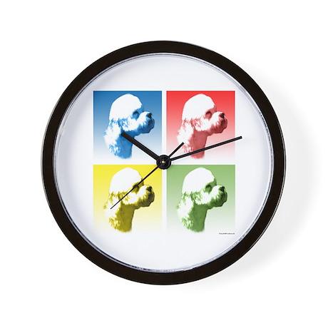 Dandie Dinmont Pop Art Wall Clock