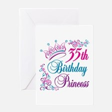 35th Birthday Princess Greeting Card