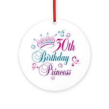 30th Birthday Princess Ornament (Round)
