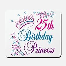 25th Birthday Princess Mousepad