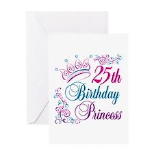 25th Birthday Princess Greeting Card