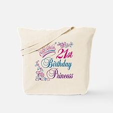 21st Birthday Princess Tote Bag