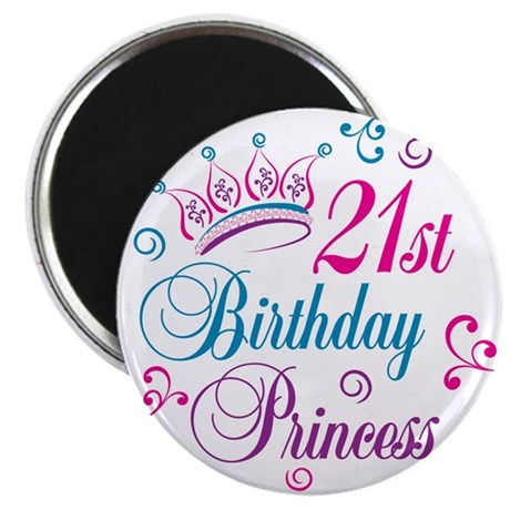 "21st Birthday Princess 2.25"" Magnet (10 pack)"