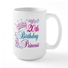 20th Birthday Princess Mug