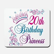 20th Birthday Princess Mousepad