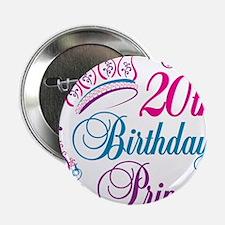 "20th Birthday Princess 2.25"" Button (10 pack)"