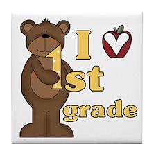 Loves 1st Grade Tile Coaster