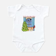 Yellow Lab Christmas Infant Bodysuit