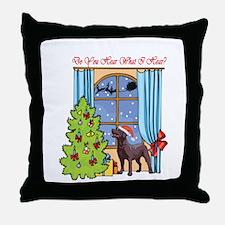 Chocolate Lab Christmas Throw Pillow
