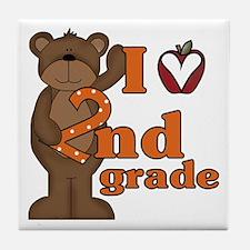 Loves 2nd Grade Tile Coaster