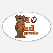 Loves 2nd Grade Oval Decal