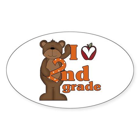 Loves 2nd Grade Oval Sticker (10 pk)