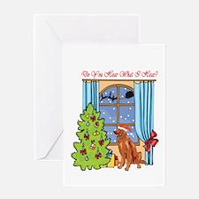 Irish Setter Christmas Greeting Card