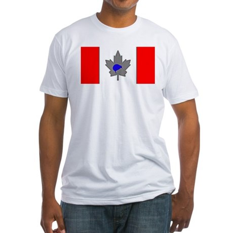 Ice Blue Canadian Kiwi Fitted T-Shirt