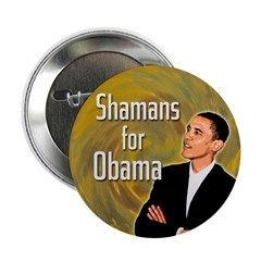 Shamans for Obama campaign button