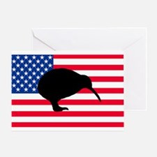 U.S. Kiwi Flag Greeting Card