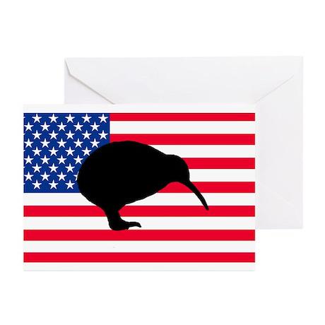 U.S. Kiwi Flag Greeting Cards (Pk of 20)