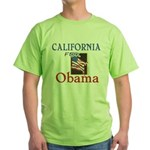 California for Obama Green T-Shirt