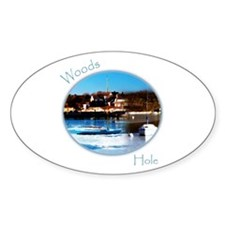 Woods Hole Oval Decal