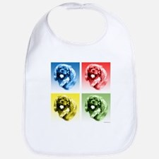 English Toy Pop Art Bib