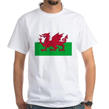 Welsh flag of Wales White T-Shirt
