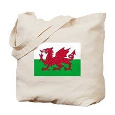 Welsh flag of Wales Tote Bag