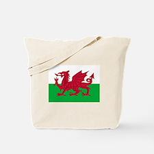 Welsh flag of Wales Tote Bag
