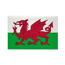 Welsh flag of Wales Rectangle Magnet