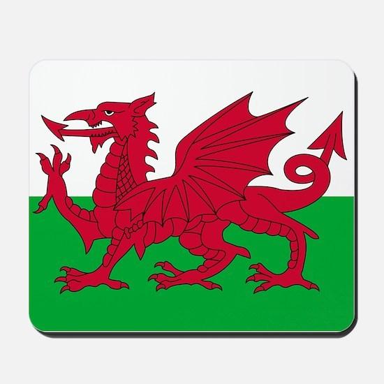 Welsh flag of Wales Mousepad