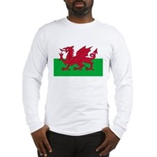 Welsh flag of Wales Long Sleeve T-Shirt