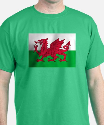 Welsh flag of Wales T-Shirt