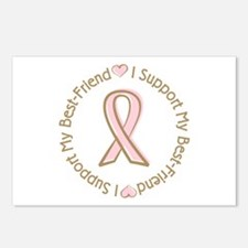 Breast Cancer Support Best Friend Postcards (Packa