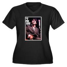 Cute Phil Women's Plus Size V-Neck Dark T-Shirt