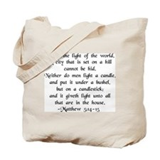 """""""Ye are Light of World"""" Tote Bag"""