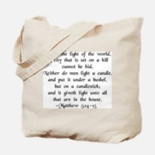 """Ye are Light of World"" Tote Bag"
