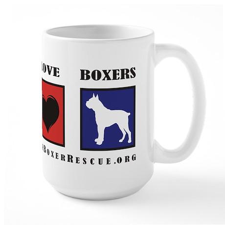 Peace Love Boxers - Lone Star Large Mug