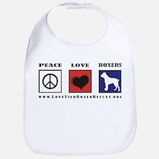 Peace Love Boxers - Lone Star Bib