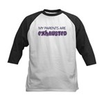 Exhausted Parents Kids Baseball Jersey