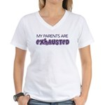 Exhausted Parents Women's V-Neck T-Shirt