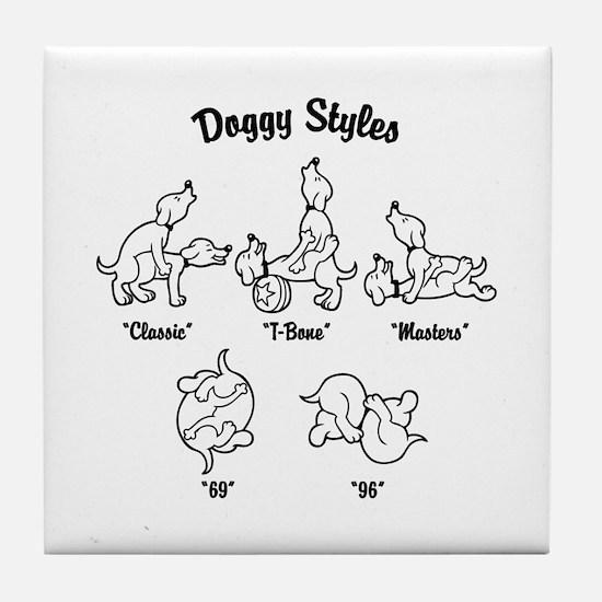Doggy Styles Tile Coaster