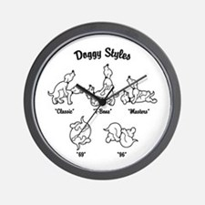 Doggy Styles Wall Clock