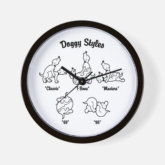Doggy Styles Wall Clock