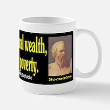 Socrates: Contentment is natu Mug