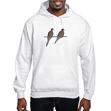 Retro Doves Happy Anniversary Hoodie