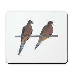 Retro Doves Happy Anniversary Mousepad