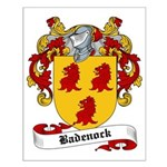 Badenock Family Crest Small Poster
