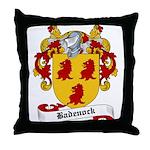 Badenock Family Crest Throw Pillow