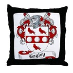Bagley Family Crest Throw Pillow