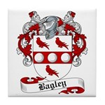 Bagley Family Crest Tile Coaster