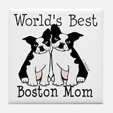 World's Best Boston Mom Tile Coaster